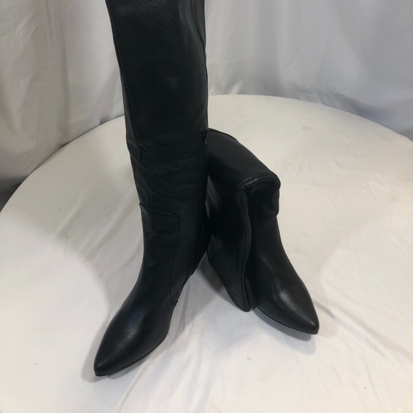 fine craftsmanship new concept hot sale Tall Order Black Knee High Boots NWT
